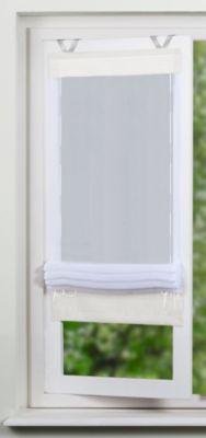 SCHMIDTGARD STOFFE easyFIX Bändchen Rollo Sheena aus uni Voile mit Fensterhaken | Heimtextilien > Jalousien und Rollos > Bändchenrollos | Polyester | Sonstiges