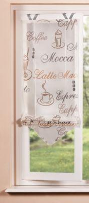 SCHMIDTGARD STOFFE easyFIX Voile Bändchen Rollo, Kaffee Motiv u. Fensterhaken | Heimtextilien > Jalousien und Rollos > Bändchenrollos | Espresso | Sonstiges