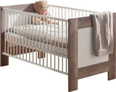 Babybett Marie | Kinderzimmer > Babymöbel > Babybetten & Babywiegen | Trüffel - Weiß | Wildeiche - Nachbildung | Sonstiges