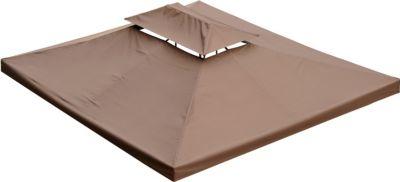 Outsunny Ersatzdach für Metall-Gartenpavillon 3x4m kaffeebraun