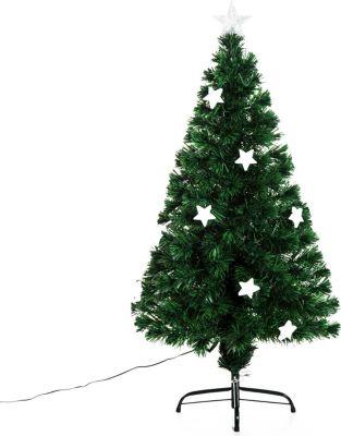 HOMCOM Weihnachtsbaum mit 16-LED-Lampen Tannenbaum Christbaum LED Xmas tree Lichtfaser
