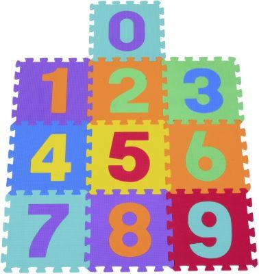 HOMCOM Puzzlematte als 10-teiliges Set Matte Spielmatte Bodenschutzmatte Bodenmatte