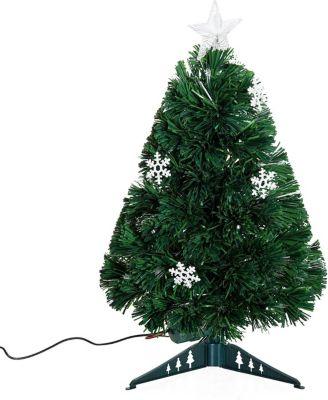 HOMCOM Christbaum inklusive Kunststoffständer Weihnachtsbaum Tannenbaum LED Xmas tree Lichtfaser