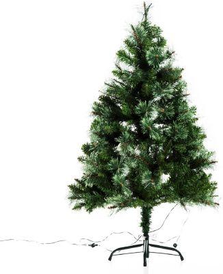 HOMCOM Weihnachtsbaum mit Metallständer Künstlicher Tannenbaum Christbaum Kunststoffbaum
