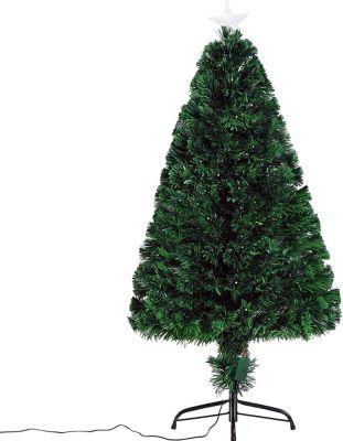HOMCOM Weihnachtsbaum mit 130 LEDs Künstlicher Tannenbaum Christbaum LED Xmas tree