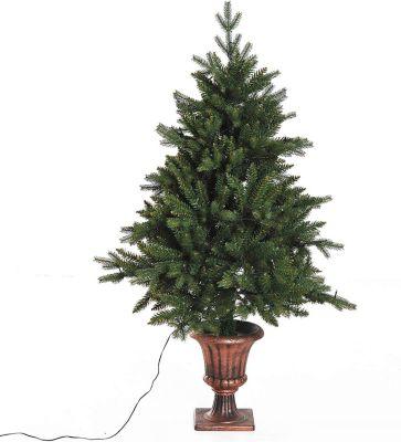 HOMCOM Tannenbaum inkl. -Ständer Weihnachtsbaum Christbaum LED Xmas tree Lichtfaser