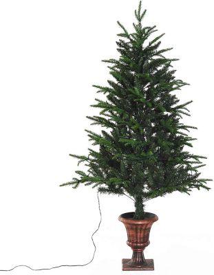 HOMCOM Weihnachtsbaum mit -Ständer Tannenbaum Christbaum LED Xmas tree Lichtfaser