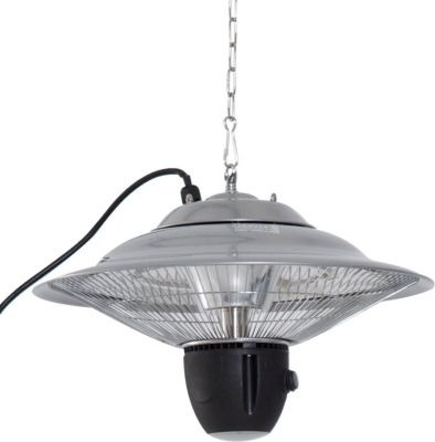 Outsunny Heizstrahler 1500W mit LED inkl. Fernbedienung Alu Silber
