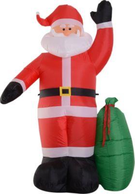 HOMCOM Selbstaufblasbare Weihnachtsmann mit LED-Beleuchtung   Weihnachten > Weihnachtsbeleuchtung   HOMCOM