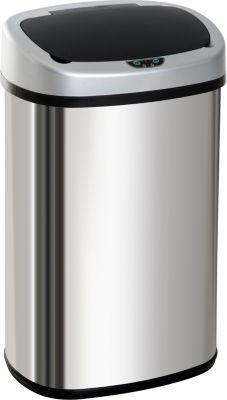 HOMCOM Abfalleimer mit Infrarotsensor Automatik Mülleimer Kücheneimer Müll Abfall | Küche und Esszimmer > Küchen-Zubehör > Mülleimer | Edelstahl | HOMCOM