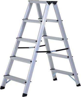Trittleiter mit 5 Stufen | Baumarkt > Leitern und Treppen > Trittleiter | Aluminium | HOMCOM