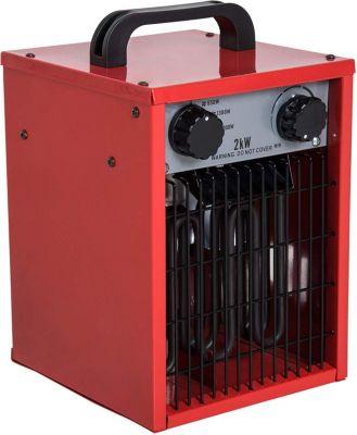 HOMCOM Bauheizer mit 3 Leistungsstufen Heizlüfter Elektroheizung Heizgerät Bautrockner | Baumarkt > Heizung und Klima > Heizgeräte | HOMCOM
