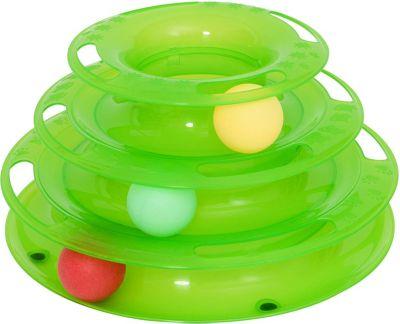 PawHut Katzen Spielturm mit 3 Bällen