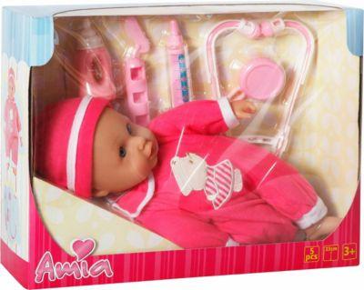 Puppenwagen Buggy Amia blau gemustert Zubehör Puppe NEU Puppenwagen Puppen & Zubehör