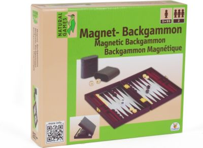 Natural Games Magnet-Backgammon, 22 x 33 cm