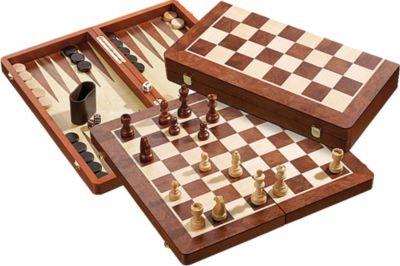 Philos Schach-Backgammon-Dame-Set, Feldgröße 50 mm