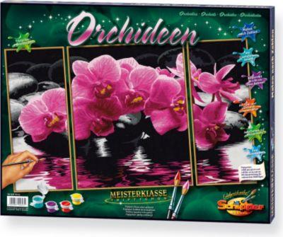 Malen nach Zahlen Orchideen (Triptychon) 50 x 8...