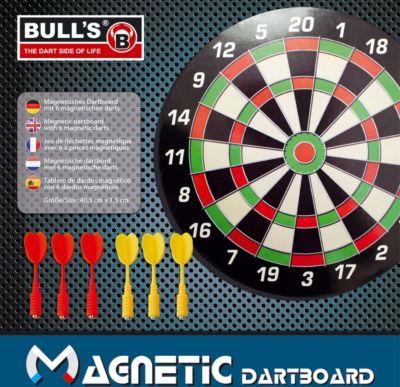 Bull&acutes Magnetic Dartboard mit 6 Pfeilen