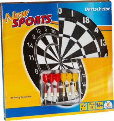 New Sports Dartboard inklusive 6 Pfeilen