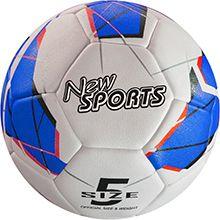 New Sports Fußball Größe 5, PU, handgenäht, una...