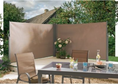 Seitenmarkise doppelt Taupe | Garten > Balkon > Sichtschutz | Trendfabrik