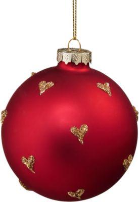 BUTLERS HANG ON Glaskugel mit Herzchen Ø 8cm | Weihnachten > Christbaumschmuck | Butlers