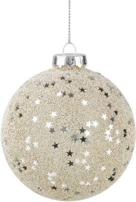 BUTLERS HANG ON Glaskugel Stars Ø 8 cm | Weihnachten > Christbaumschmuck | Butlers