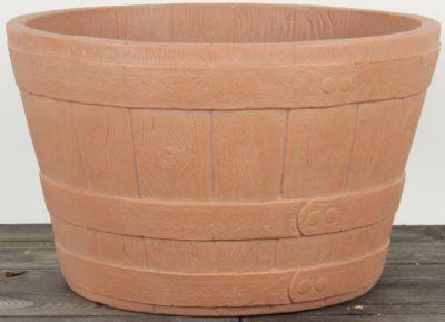 Dominik Gartenparadies AIR-POTS BARREL, terracotta, doppelwandiger Pflanzkübel, Ø Durchmesser 40,5cm, Höhe 25,4cm