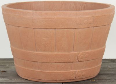 Dominik Gartenparadies AIR-POTS BARREL, terracotta, doppelwandiger Pflanzkübel, Ø Durchmesser 51cm, Höhe 32,5cm