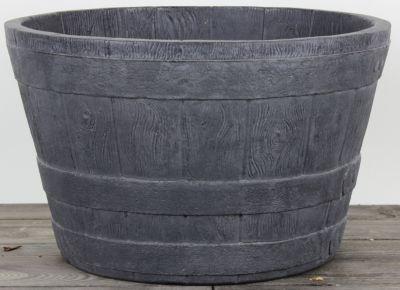Dominik Gartenparadies AIR-POTS BARREL, schiefer, doppelwandiger Pflanzkübel, Ø Durchmesser 51cm, Höhe 32,5cm