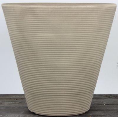 Dominik Gartenparadies AIR-POTS BEA, sandfarben, doppelwandiger Pflanzkübel, Ø Durchmesser 40,5cm, Höhe 38cm