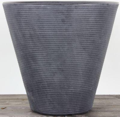 Dominik Gartenparadies AIR-POTS BEA, schiefer, doppelwandiger Pflanzkübel, Ø Durchmesser 40,5cm, Höhe 38cm