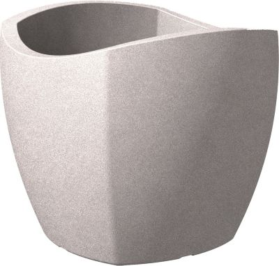 scheurich kunststoff umtopf wave globe cubo 40 cm taupe granit baumarkt xxl. Black Bedroom Furniture Sets. Home Design Ideas