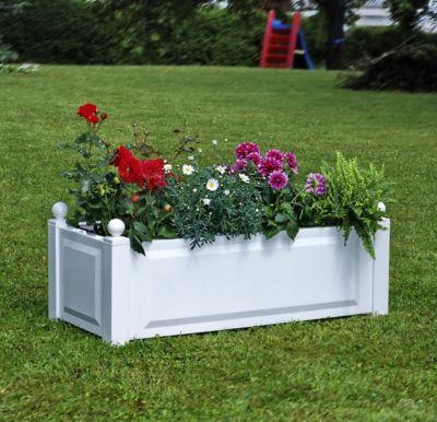 khw pflanzkasten rechteckig 100cm lang 43 cm breit 40 cm hoch wei 2er spar set baumarkt xxl. Black Bedroom Furniture Sets. Home Design Ideas