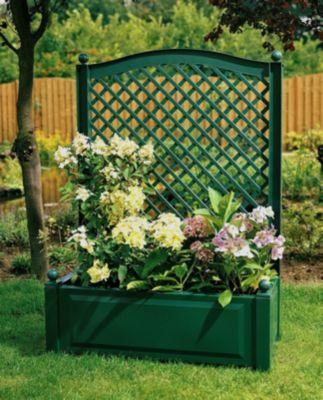 Pflanzkasten mit Spalier 100 cm, grün