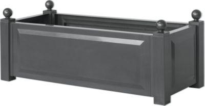 Pflanzkasten, anthrazit, 100/43/41 cm, grau