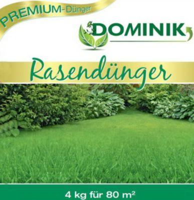 DOMINIK Rasendünger in Gärtner-Qualität organisch-mineralisch 12+3+6 ,4 kg, Frühjahrsdünger