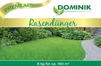 DOMINIK Rasendünger in Gärtner-Qualität, organisch-mineralisch 12+3+6, 8 kg, Frühjahrsdünger