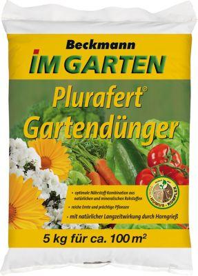 Beckhorn Plurafert Gartendünger 7+4+10 für Gemüse und Zierpflanzen, 5 kg