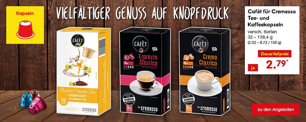 Cafet für Cremesso - Vielfältiger Genuss auf Knopfdruck