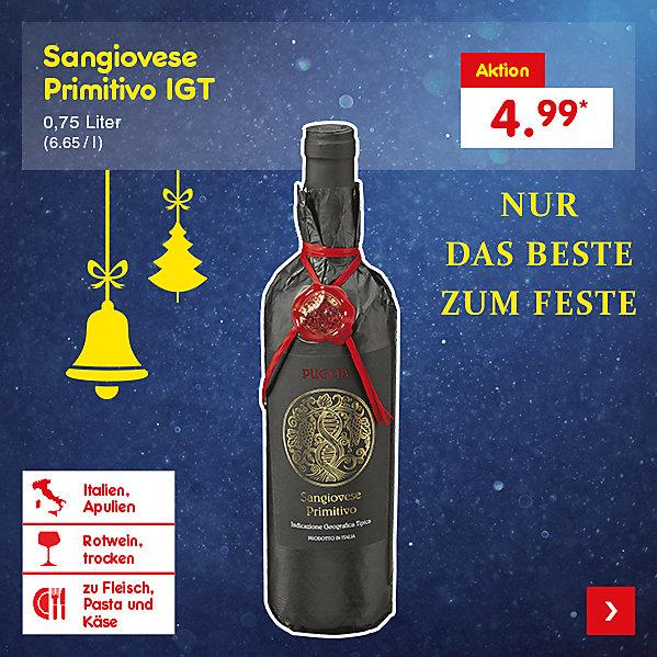 Sangiovese Primitivo IGT 0,75 Liter (6.65 / l), für nur 4.99 €*