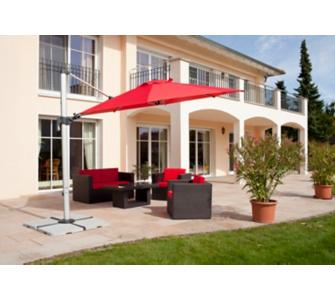 Schneider-Schirme Schneider Sonnenschirm Barbados rot, Ø 350 cm