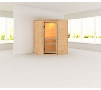 Woodfeeling Aurel 38 mm Sauna, ohne Dachkranz