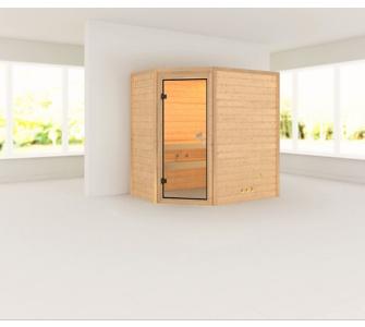 Woodfeeling Yassin 38 mm Sauna, ohne Dachkranz