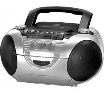 Soundmaster SCD5350SI CD-Radiorekorder mit externen Mikrofon in silber