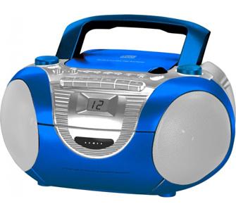 Soundmaster SCD5350BL CD-Radiorekorder mit externen Mikrofon in blau