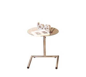 moebel direkt online Beistelltisch _ Glastisch _ höhenverstellbarer Tisch _ Metallgestell höhenverstellbar