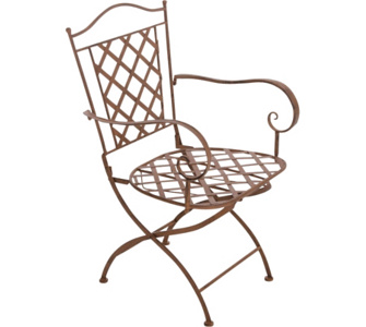 nostalgischer Stuhl ADARA aus Eisen (aus bis zu 6 Farben wählen)