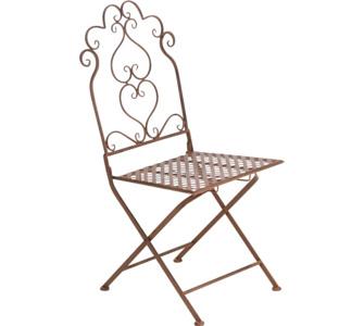 nostalgischer Stuhl ANABEL aus Eisen (aus bis zu 3 Farben wählen)