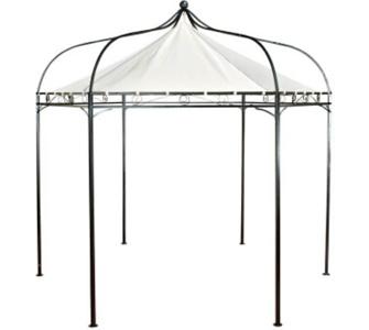 sechseckiger Pavillon MANLEY aus Metall inkl. wasserdichtem Dach (Höh